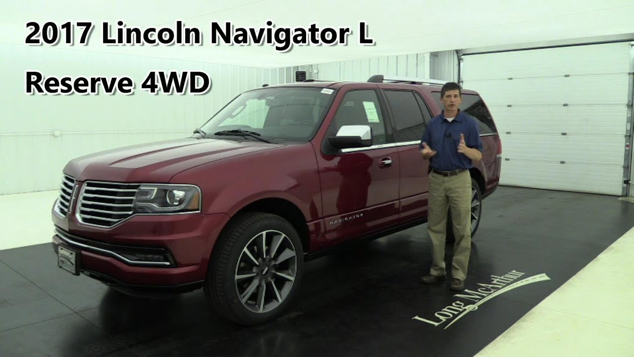 2017 lincoln navigator l reserve 4wd 17910t youtube. Black Bedroom Furniture Sets. Home Design Ideas