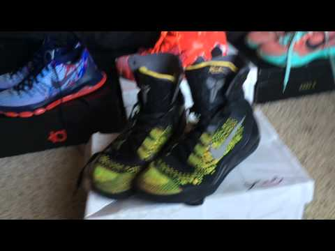My Basketball shoe collection! Ft- Kobe's and KD's - YouTube