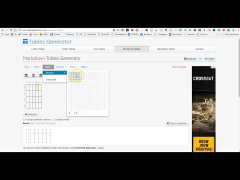 Creating Markdown Tables
