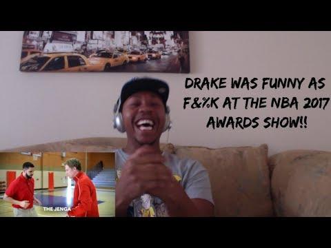 BEST OF DRAKE AT THE 2017 NBA AWARDS (REACTION) DRAKE FUNNY AF!!
