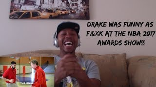 Best of drake at the 2017 nba awards (reaction) drake funny af!!