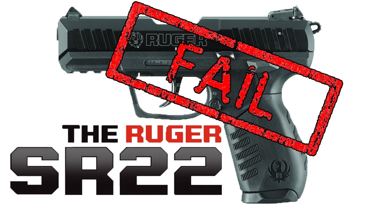 shooting the ruger sr22 fail youtube