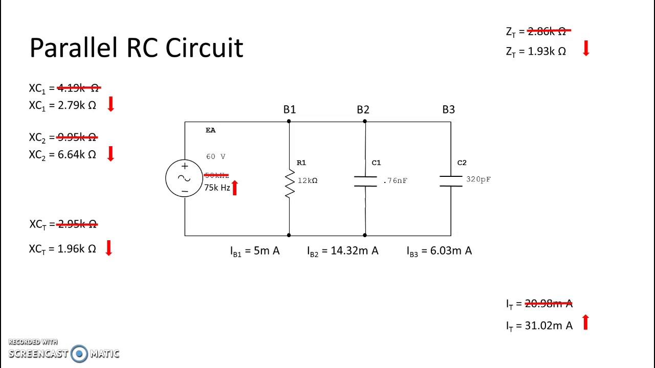 parallel rc circuit frequency increase youtube rh youtube com