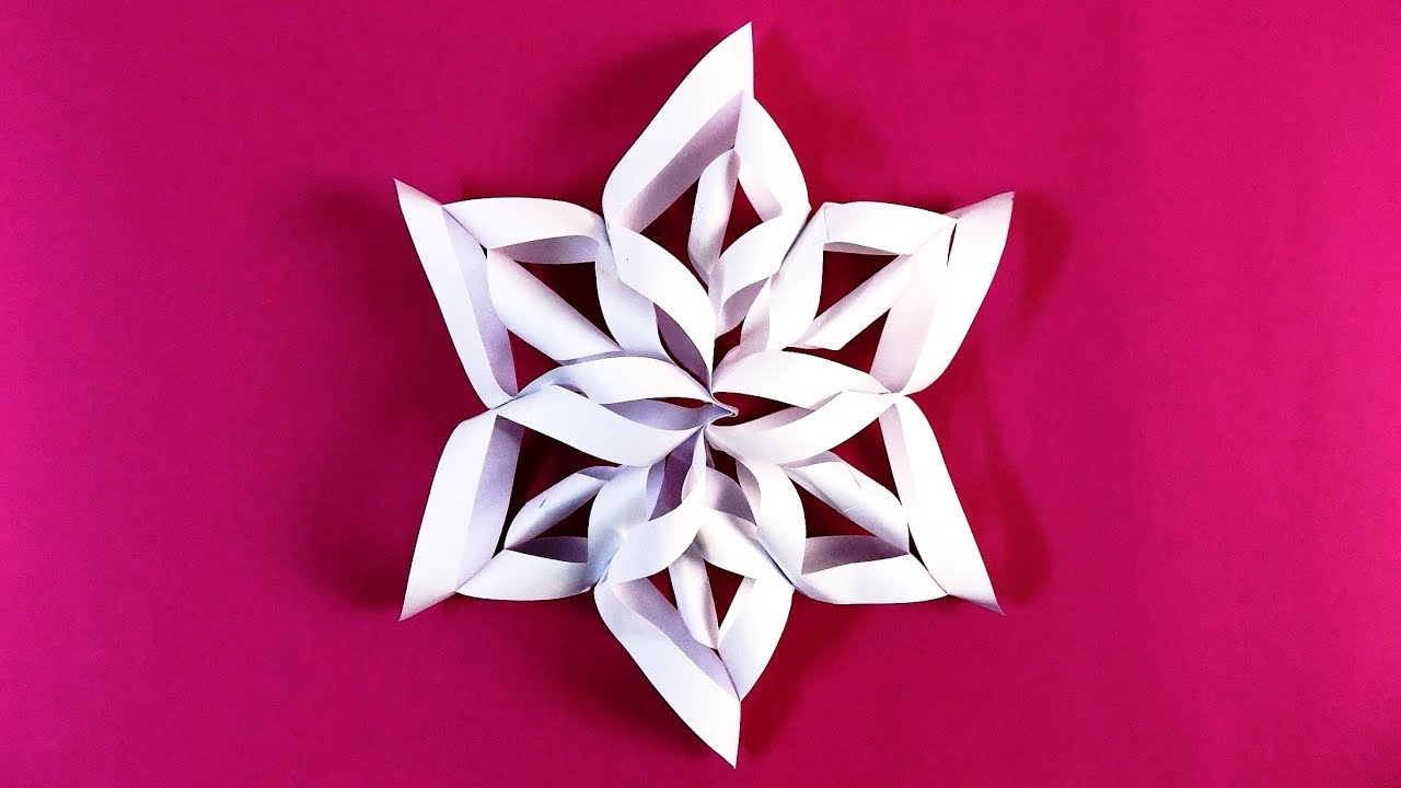 3d snowflake diy tutorial how to make 3d paper snowflakes for homemade decorations
