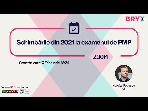 BRYX Webinars - Schimbările din 2021 la examenul de PMP, cu Narciss Popescu