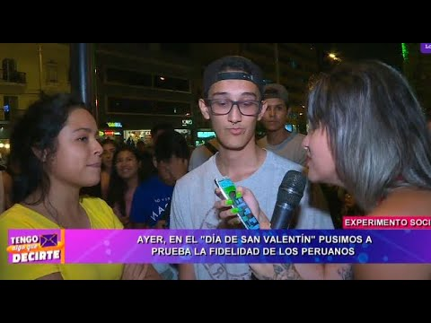 Parejas peruanas pasaron la 'prueba de la fidelidad' por el Día de San Valentín