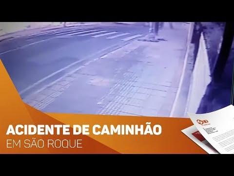 Acidente de caminhão impressionante em São Roque - TV SOROCABA/SBT