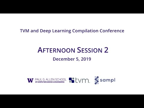 2019 TVM And Deep Learning Compilation Conference: Afternoon Session 2