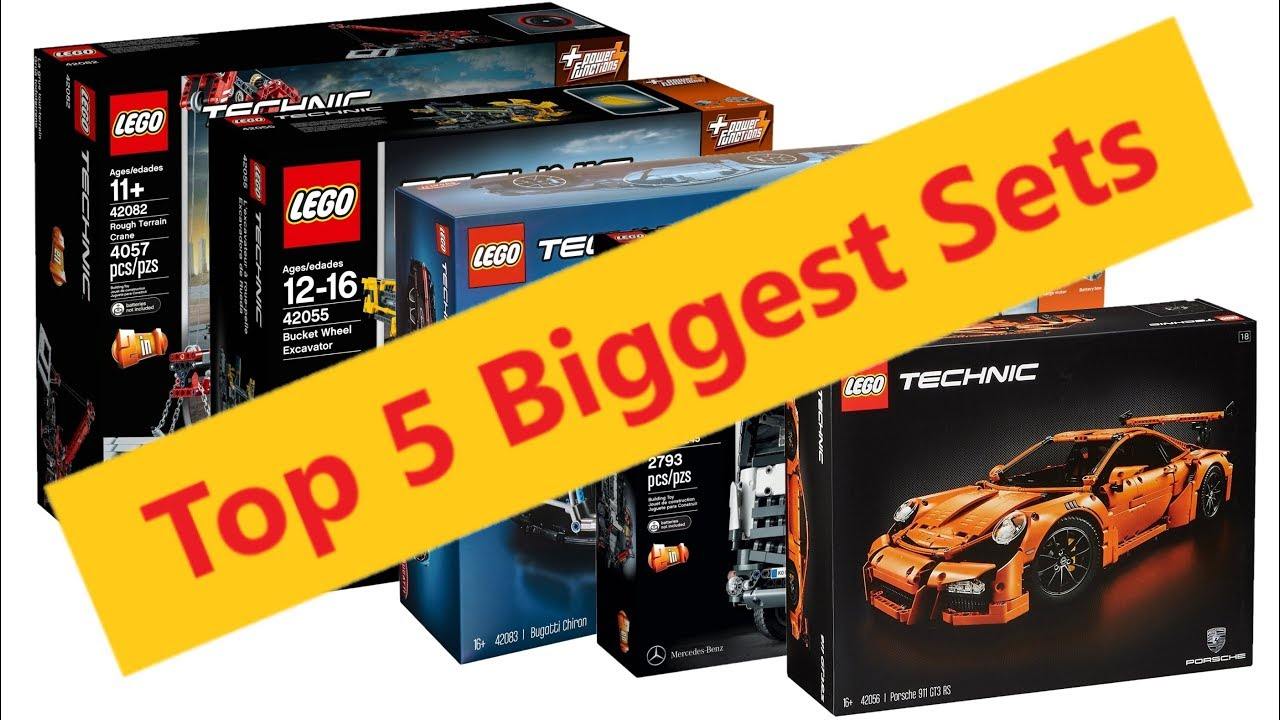 Top 5 Biggest LEGO Technic Sets before the Liebherr R9800