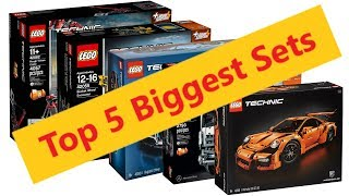 Top 5 Biggest Lego Technic Sets Before The Liebherr R9800 Comes Out