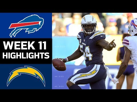 Bills vs. Chargers | NFL Week 11 Game Highlights