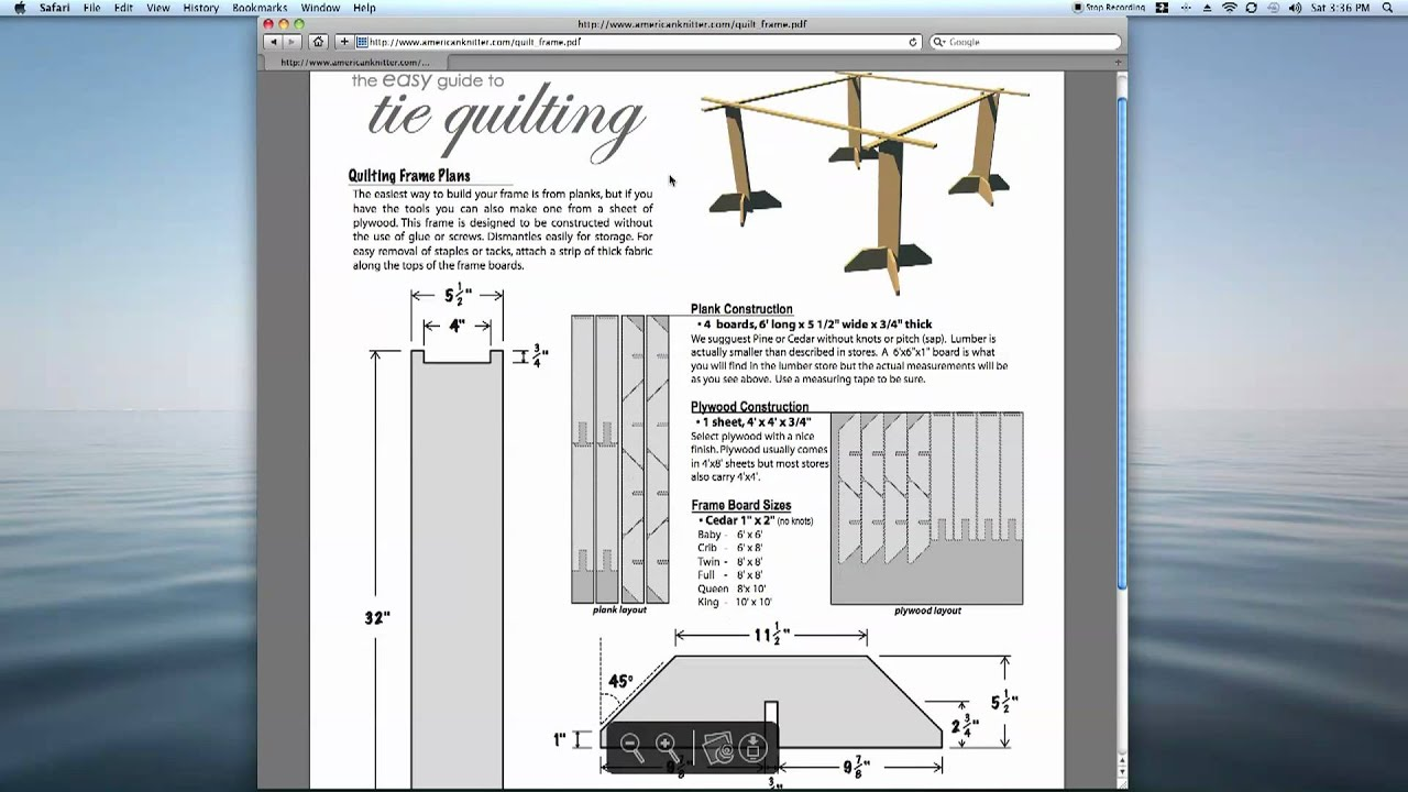 Tie Quilting Frame Plans Easy to build & Free From ...
