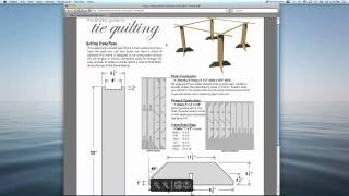 Tie Quilting Frame Plans Easy To Build & Free From Americanknitter.com
