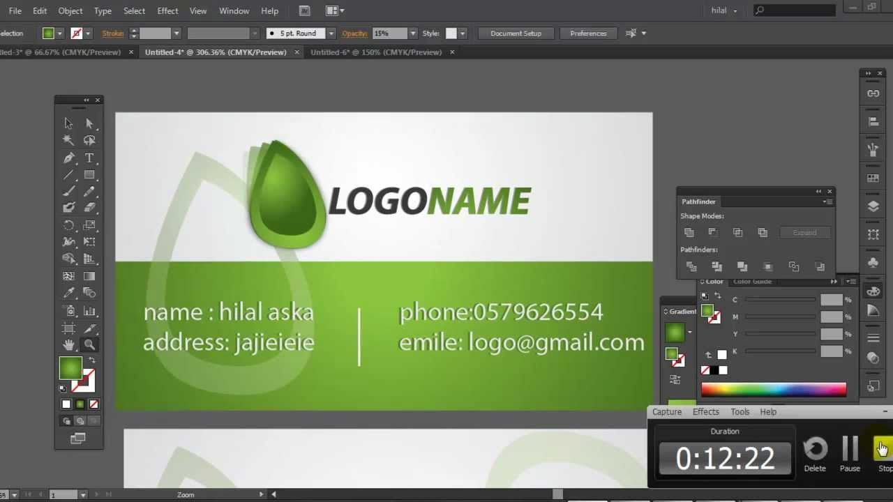 Professional business card design for your business in adobe professional business card design for your business in adobe illustrator youtube reheart Gallery