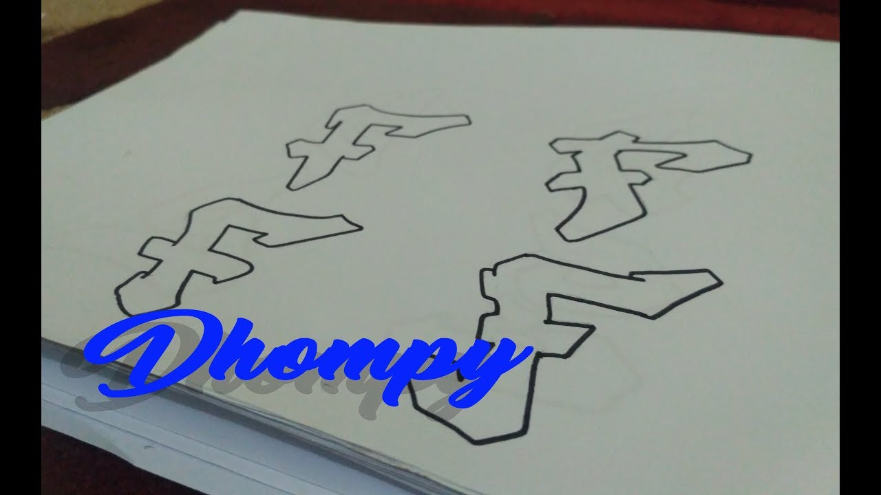 Graffiti Abjad Letter F Dhompy Graffiti Youtube