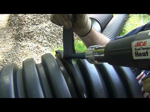 How to weld plastic sewer pipe with simple tools