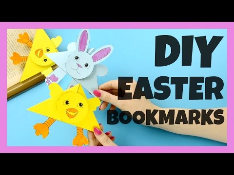 Easter Chick And Bunny Corner Bookmarks - Corner Bookmark Ideas
