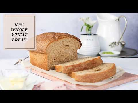 Soft 100% Whole Wheat Bread