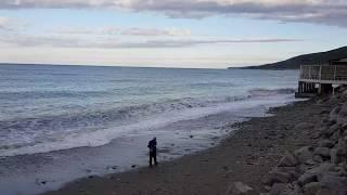 """Шум моря и РЕЛАКС! Пляж """"Дельфин"""" в Лазаревском, Сочи. Погода ранним утром 7 октября 2019"""