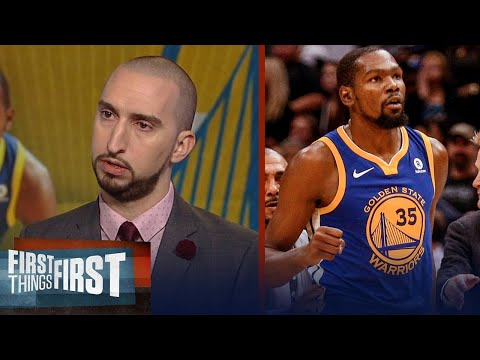 Nick Wright reacts to Durant being ejected during Warriors win over Pelicans | FIRST THINGS FIRST