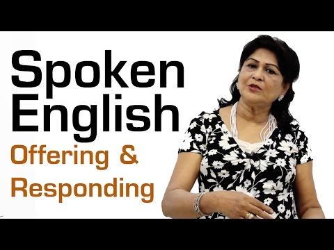 Spoken English Basic for Beginners  || Offering and Responding