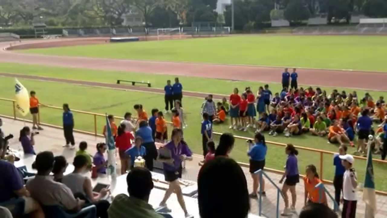 Crescent Girls 4 x 100m relay (Sec 1 2014)