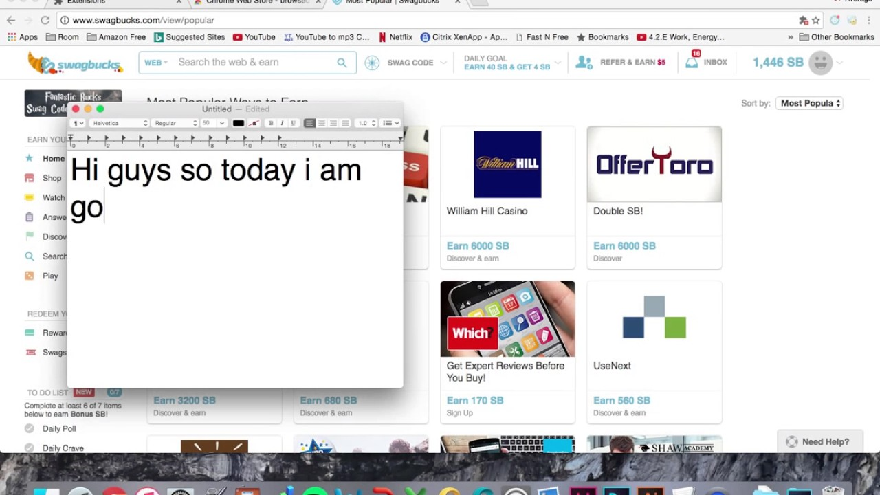 Earn 1000 swagbucks a day - Earn Over 700 Swagbucks Per Day With This Little Trick