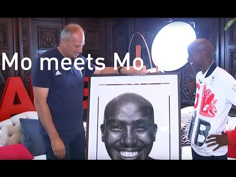 Mo meets Mo: David Bailey takes Mo Farah's portrait