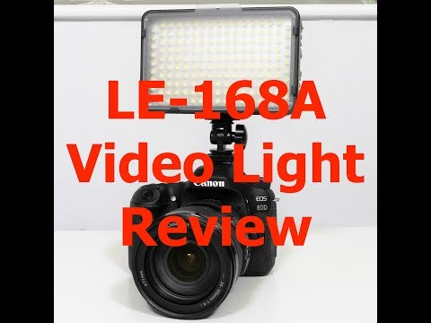 LE 168A Pro LED Video Light Review