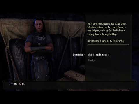 The Elder Scrolls Online - The Spearhead's Crew: Talk To Crafty Lerisa Dialogue Tree Sequence (2015)