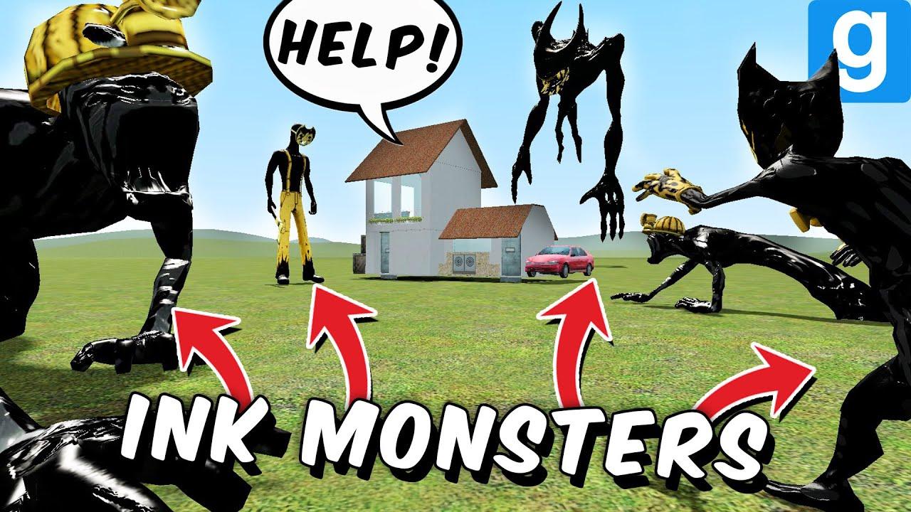 BENDY INK MONSTERS vs DESTRUCTIBLE HOUSE?! (Garry's Mod Sandbox) thumbnail