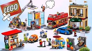 LEGO CITY: распаковка ЛЕГО СИТИ - МАГАЗИН ХОТ ДОГОВ и Лего ОТЕЛЬ!  Видео для детей LEGO CITY