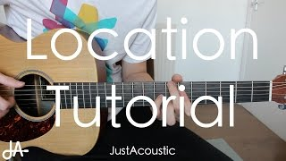 how to play location khalid guitar tutorial lesson