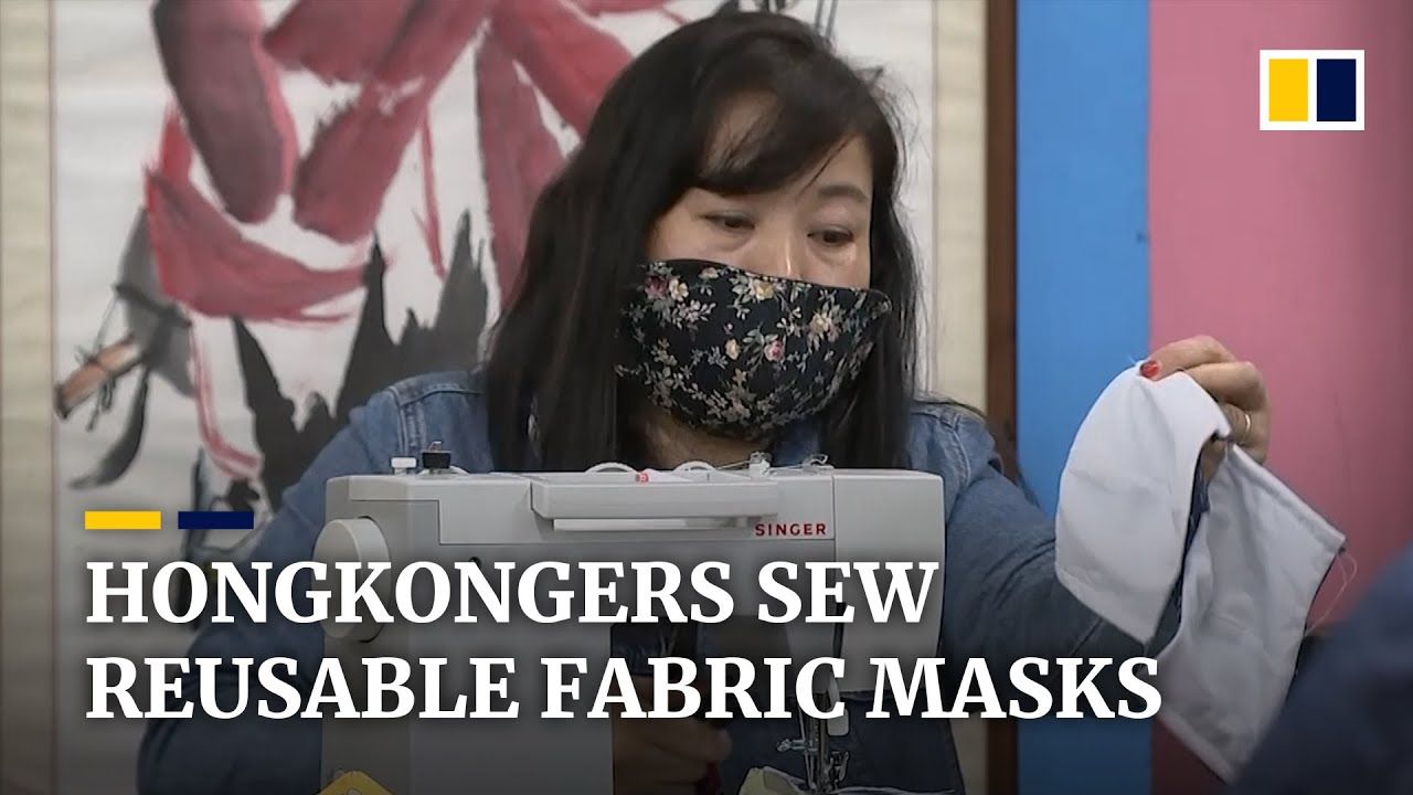 Hongkongers make reusable fabric masks as Covid-19 epidemic leads to shortages and sky-high prices
