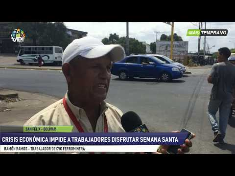 Bolívar- Crisis económica impide a trabajadores disfrutar Semana Santa- VPItv
