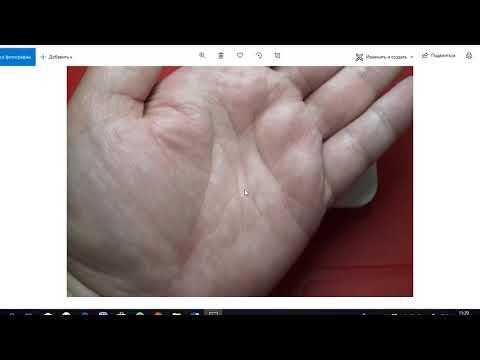 Пример на руке двойной линии головы/Знаки магов/Хиромантия