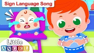 Baby Learns Sign Language | Humpty Dumpty | Kids Songs & Nursery Rhymes by Little Angel