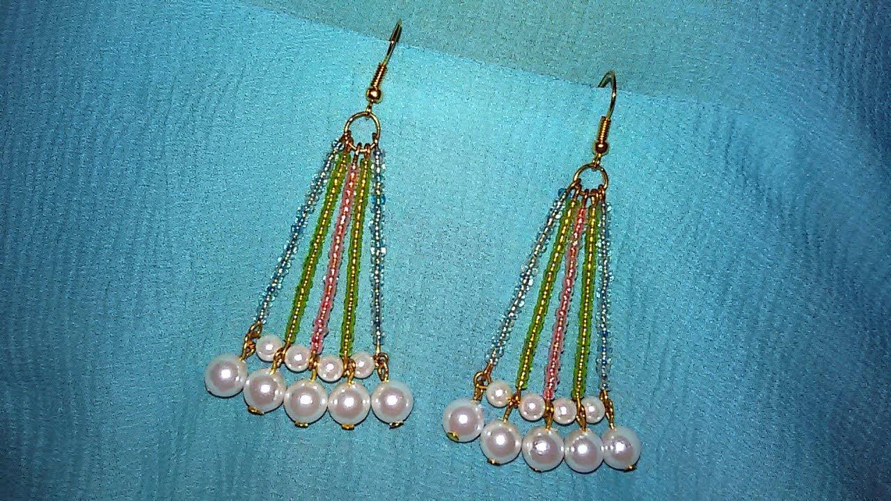 Seed Bead Chandelier Earrings Making Tutorial Diy