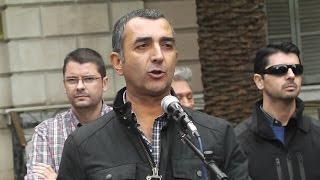 Intervención de Manuel Andrino (Jefe Nacional de La Falange) el 9-N en Barcelona