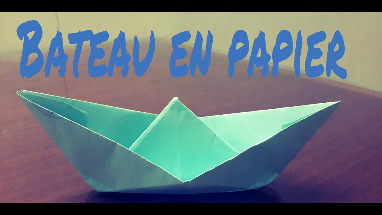 tutoriel comment faire un bateau en papier youtube. Black Bedroom Furniture Sets. Home Design Ideas