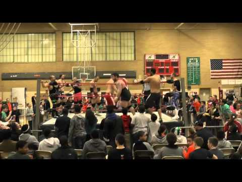 8 Man Tag Team Bout - Team Waters vs. Team Steel - Brockton MIddle School