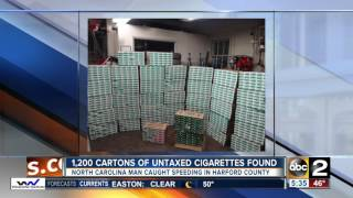Police: 1200 untaxed cigarette cartons seized on I-95