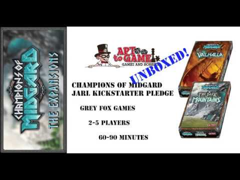 Apt To Game UNBOXING! Champions of Midgard Jarl Kickstarter Pledge
