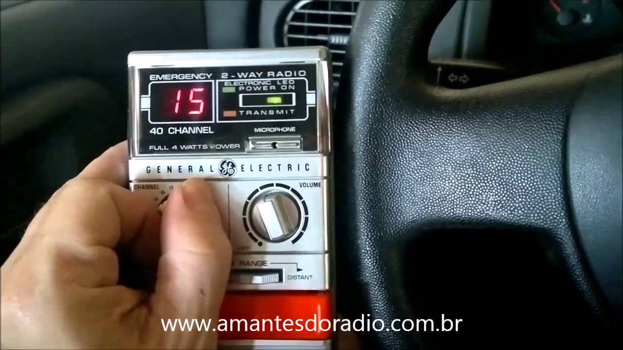 Vintage GE Help 40 Channel 2-Way CB Radio Model 3-5900C General Electric