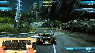 NFS Most Wanted 2012: How I play with my keyboard - Ariel Atom V8 500 Full Pro vs Most Wanted Venom