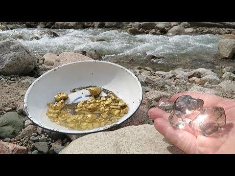Diamond Mountain River! Search For Gold And Diamonds