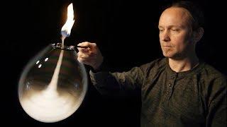 Fire Tornado Inside A Bubble - Amazing Science Experiment
