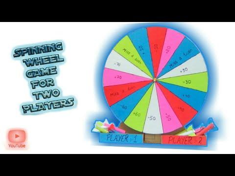 How to make a spinning wheel and paper darts game without bearing