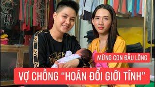 """Vợ chồng """"hoán đối giới tính"""" chào đón đứa con đầu lòng, chồng là người sinh con!!!"""