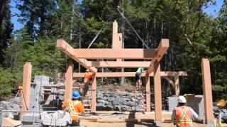 Handcrafted Timber frame gazebo